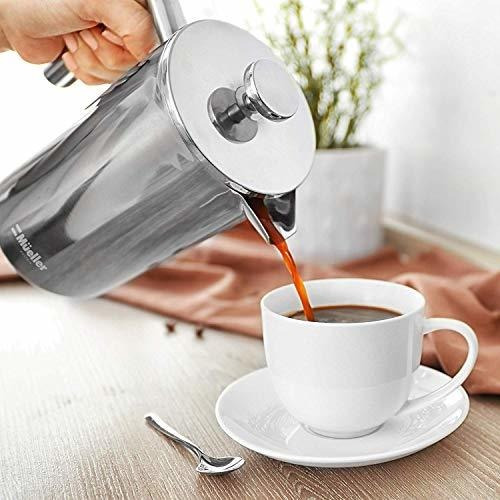 cafetera mueller french press, 20% mas pesado de acero inoxi