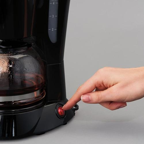 cafetera negra proctor silex 4 tazas