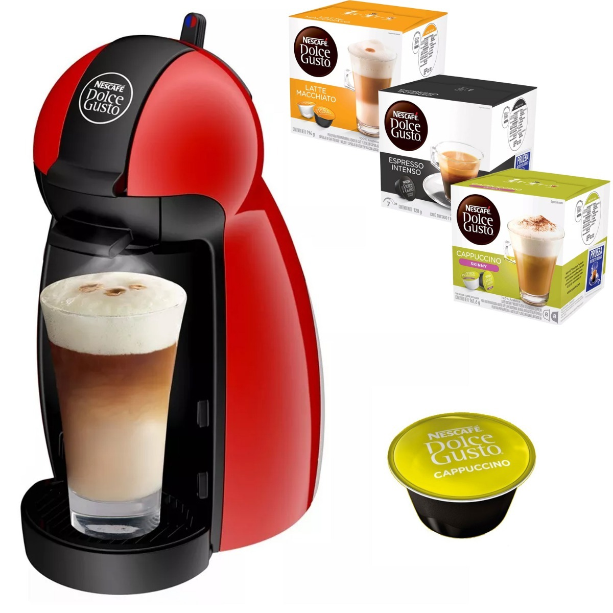 cafetera nescafe piccolo dolce gusto 48 capsulas. Black Bedroom Furniture Sets. Home Design Ideas