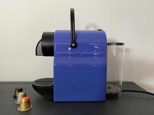 cafetera nespresso edicion limitada azul delonghi