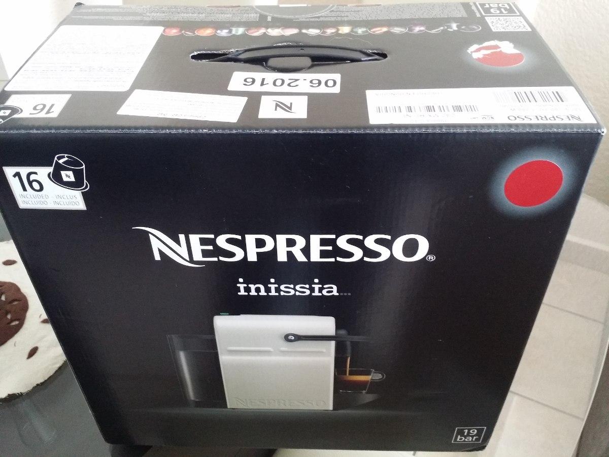 Nespresso Inissia Blanche cafetera nespresso inissia c40 blanca nueva acepto cambios