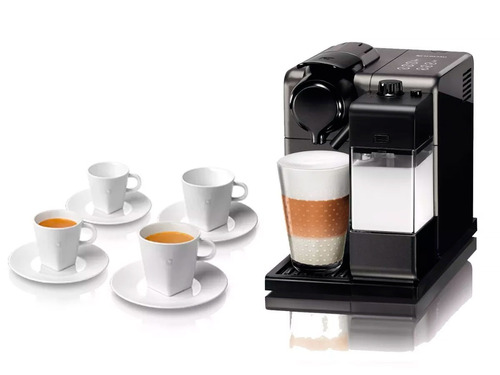 cafetera nespresso lattissima black titanium +4 tazas regalo