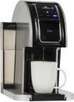 cafetera para 1 taza en negro plateado modelo338