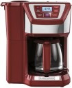 cafetera para 12 tazas rojo plateado modelo359