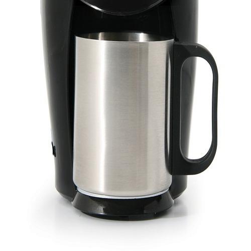 cafetera personal con taza de acero inoxidable medea