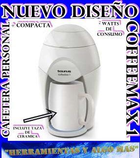 cafetera personal taurus con taza de ceramica nuevo diseño