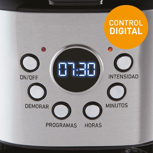 cafetera por goteo digital timer 1.8 lt. peabody pe-ct4207 *