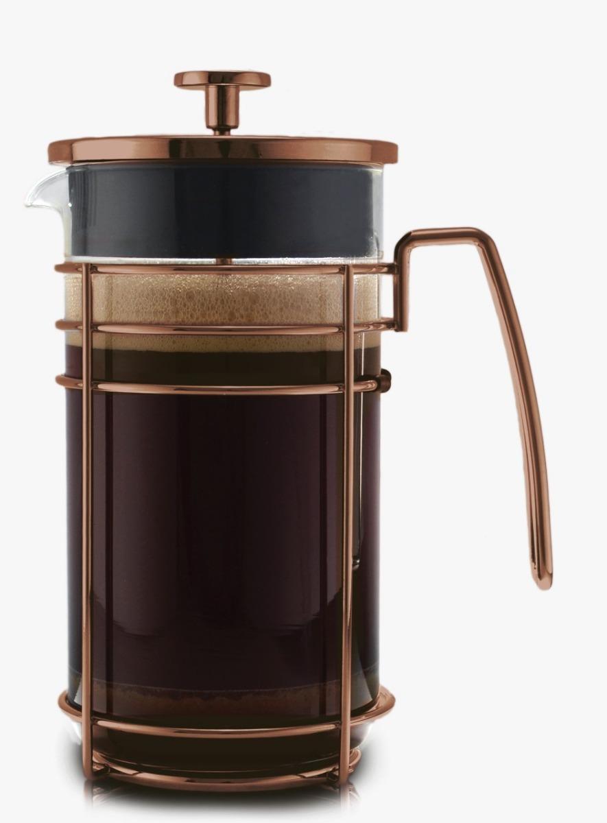 01 pieza - cafetera 1 litro prensa de caf/é de acero inoxidable y vidrio COM-FOUR/® Cafetera con soporte y filtro de acero inoxidable 1 litro