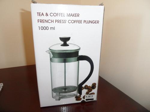 cafetera prensa francesa acero inoxidable.