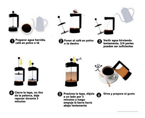 cafetera prensa francesa de vidrio 1000ml con embólo