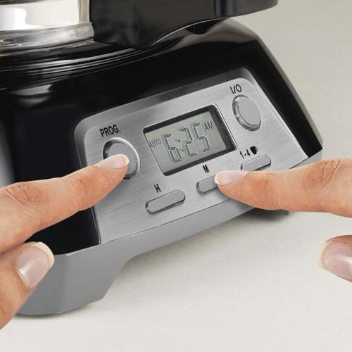 cafetera programable 12 tazas negra proctor silex 43672