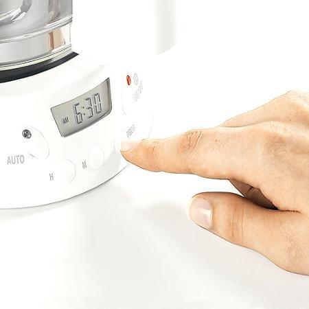 cafetera programable 12 tazas proctor silex 43571 blanco