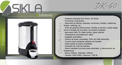 cafetera sikla dk40 capacidad 6 lts 1100 w dispenser cafe