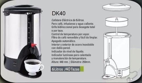 cafetera sikla electrica de 6 litros md dk40 1100 watts cafe