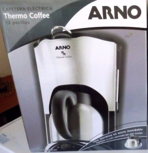 cafetera termica arno acero inoxidable 12 tazas elegante