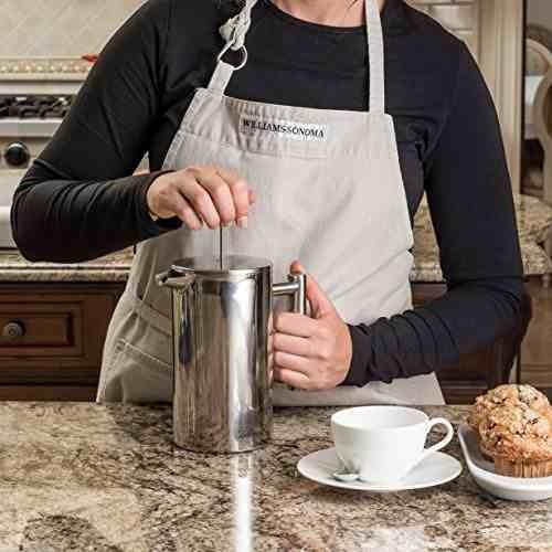 cafetera/prensa francesa bellemain, de acero inoxidable,