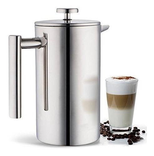 cafetera/prensa francesa miuly, doble pared de acero