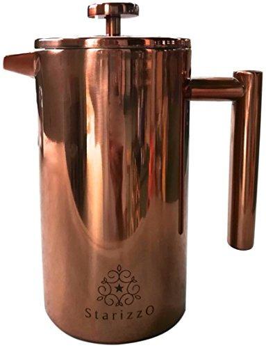 cafetera/prensa francesa satizzo de acero inoxidable con