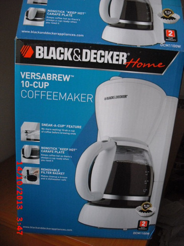 cafeteras black&decker de 10  tazas color blanca