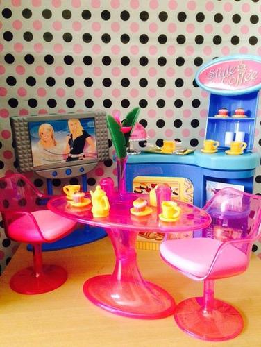 cafetería para barbie totalmente nueva