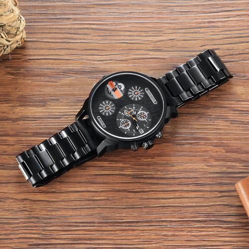 cagarny 6836 moda dual impermeable movimiento cuarzo reloj