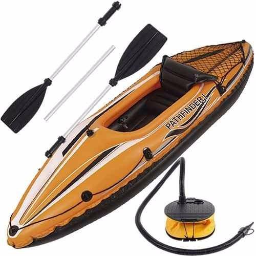 caiaque bote inflável com encosto e remo