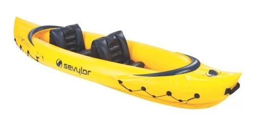 caiaque canoa inflável sevylor tahiti 2 pessoas pvc p/ 163kg