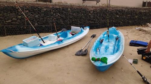 caiaque de fibra 3 lugares modelo pesca