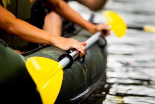 caiaque duplo inflavel pesca 2 lugares bote kaiak colorado