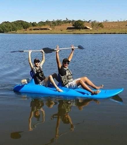 caiaque duplo kayaky kat 2 tipo catamarã - com remos