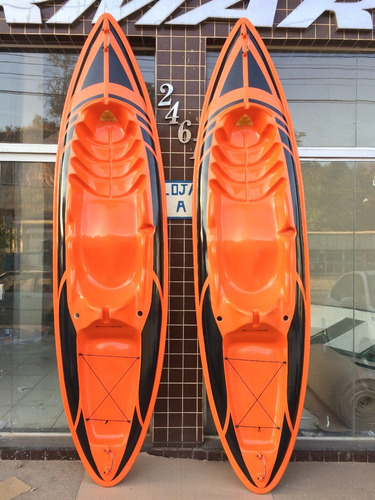 caiaque k1 pesca aberto fibra 1 lugar laranja+remo
