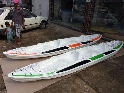 caiaque k2 pró pesca fibra de vidro 2 lugar + remos+colete