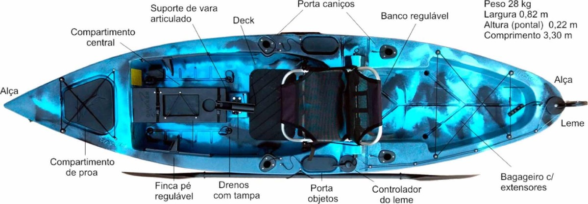 5c6b102a2 caiaque marlim caiaker com pedal oferta envio gratuito. Carregando zoom.