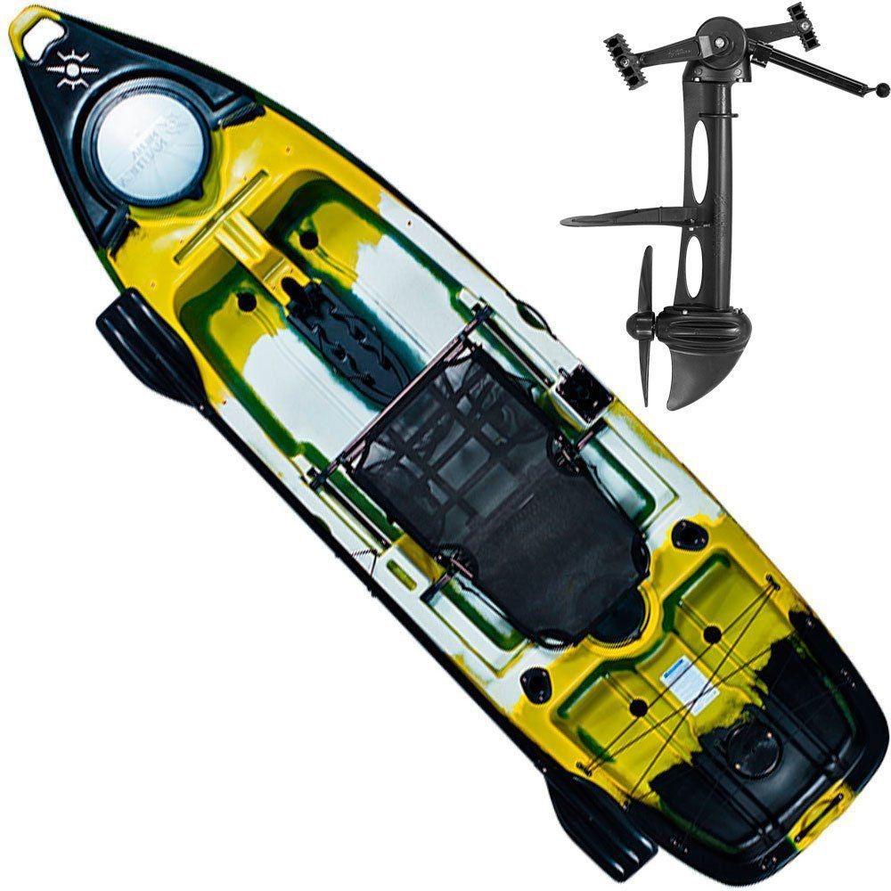 08e1e29f6 Caiaque Milha Naútica Leader Com Pedal Cadeira Leme Remo - R  5.488 ...