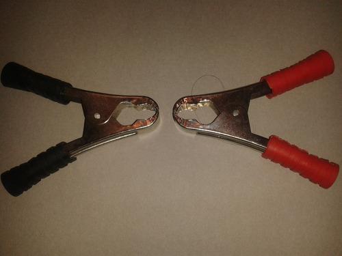 caimanes pinzas 80amp (par rojo y negro) 11cm