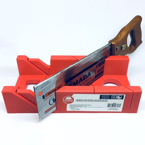 caixa 1/2 esquadria + serrote corta em angulo 22,5° 45° 90°*