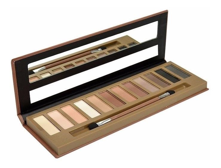 12 Paletas De Sombra Matte 7 Cores Nude Fenzza - R$ 109,99