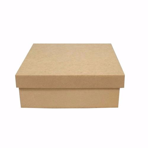 caixa 15x15x5 lisa mdf cru - casamento - padrinhos - festa