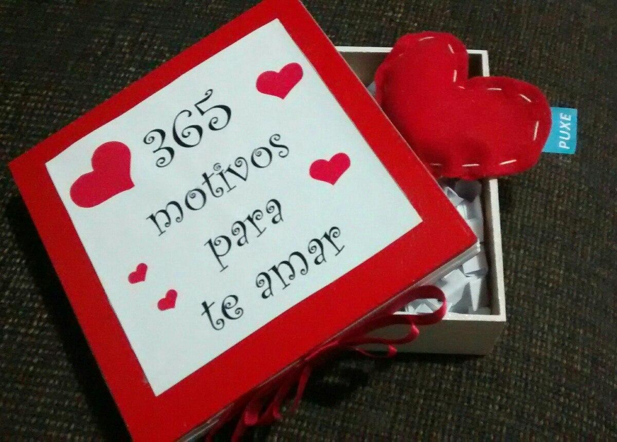 Presente feito a mão para o dia dos namorados com 365 cartinhas com motivos para te amar