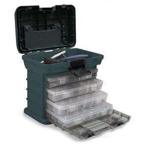 caixa 4 gavetas pesca nautika mb1 - organizadora promoção