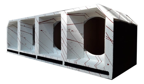 caixa 4 medio grave 10 pol. cornetada branca euclides mdf
