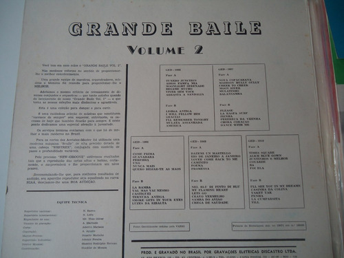 caixa 5 lp's grande baile volume 2