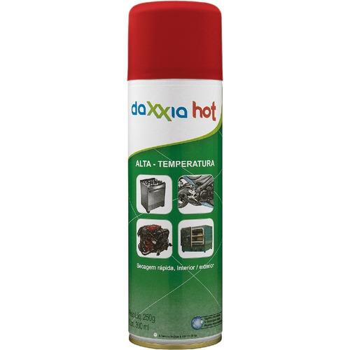 caixa 6 latas tinta daxxia alta temperatura cor vermelha