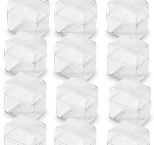 caixa acrílica para lembrancinhas cristal 100 unidades