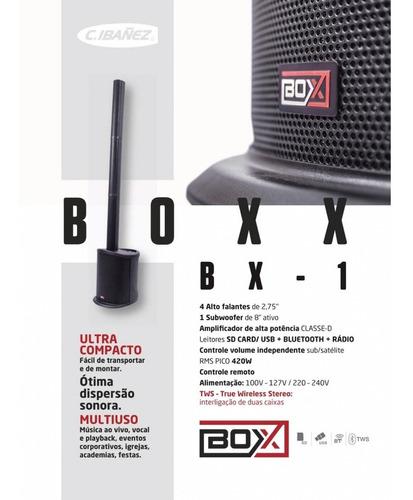 caixa acustica ativa sistema coluna boxx bx 1 box vertical !