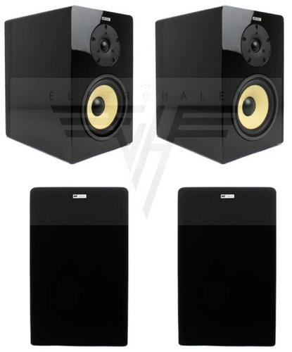 caixa acústica bookshelf 100w aat bsf-100 black piano 1 par
