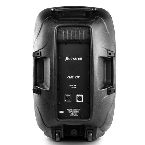 caixa acústica frahm ativa ps15a, app bluetooth - 300w, biv