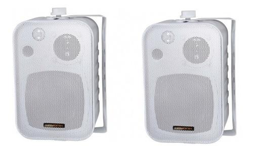 caixa acústica para som ambiente 60w c/ suporte hayonik c/2