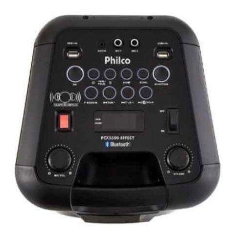 caixa acústica pcx5500 effects dual usb philco bivolt