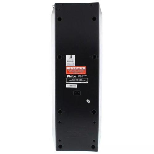 caixa acústica philco pht3000 100w rms bluetooth fm usb